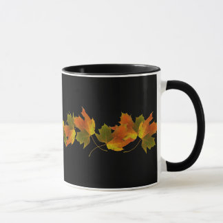 Orange And Golden  Autumn Leaves Mug