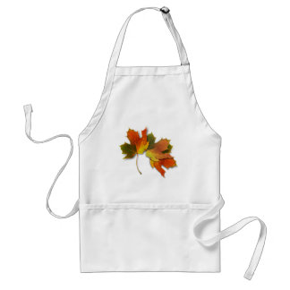 Orange And Golden  Autumn Leaves Standard Apron