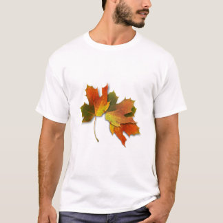 Orange And Golden  Autumn Leaves T-Shirt