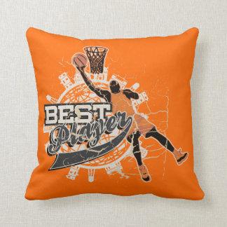 Orange and Gray Basketball American MOJO Pillow