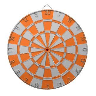 Orange And Gray Dartboard