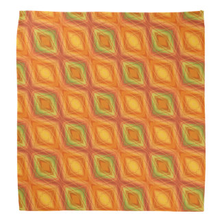 Orange And Green Abstract Pattern Bandana