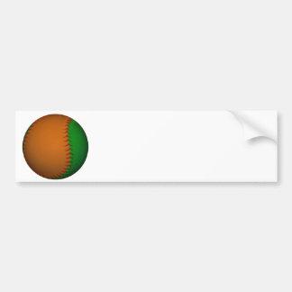 Orange and Green Baseball Bumper Sticker