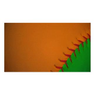Orange and Green Baseball Business Card