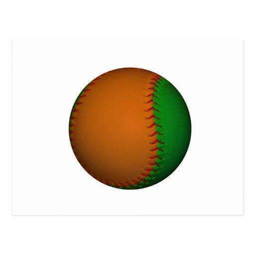 Orange and Green Baseball Post Cards