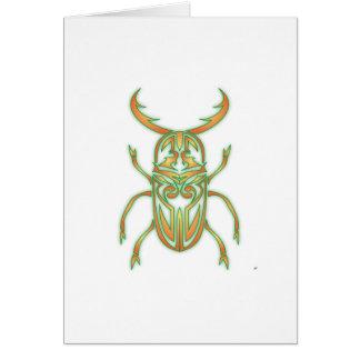 Orange and Green Beetle Card