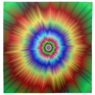 Orange and Green Color Explosion Napkins