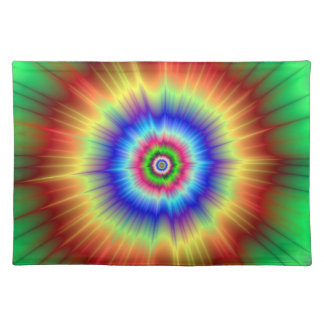 Orange and Green Color Explosion Placemats