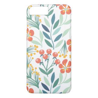 Orange and Green Floral Iphone7 Plus iPhone 8 Plus/7 Plus Case