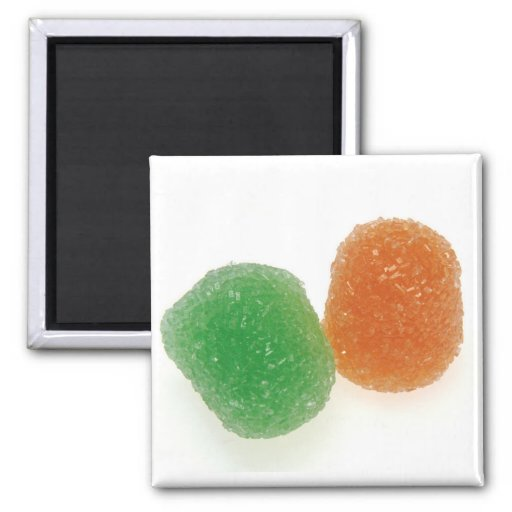 Orange and Green Gumdrops Magnets