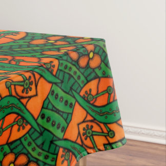 Orange And Green Lizards Gecko Pattern Tablecloth