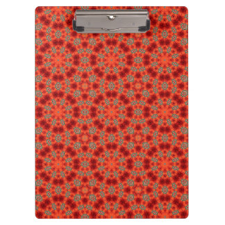 Orange and Green Mandala Pattern Clipboard