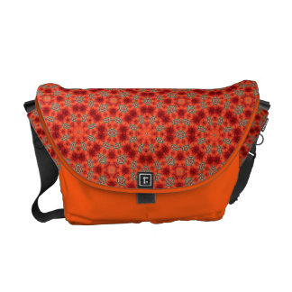 Orange and Green Mandala Pattern Courier Bag