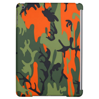 Orange and Green Military Camouflage Textures