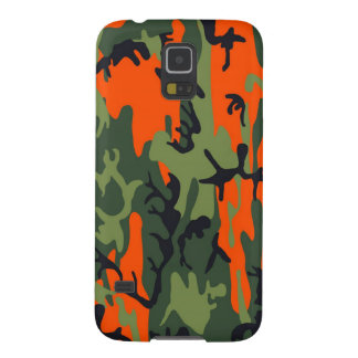 Orange and Green Military Camouflage Textures Galaxy S5 Cover