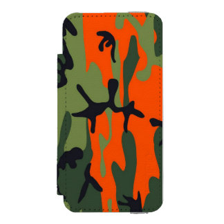 Orange and Green Military Camouflage Textures Incipio Watson™ iPhone 5 Wallet Case