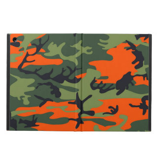 Orange and Green Military Camouflage Textures iPad Air Cases
