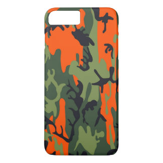 Orange and Green Military Camouflage Textures iPhone 8 Plus/7 Plus Case