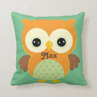 Orange and Green Owl Keepsake Cushion Baby Gift