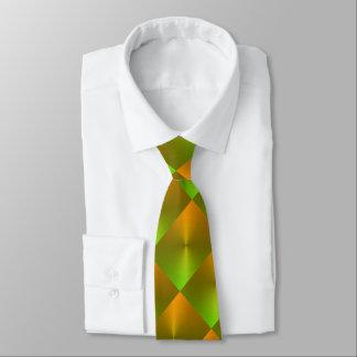 Orange and Green Shimmer Blocks Tie