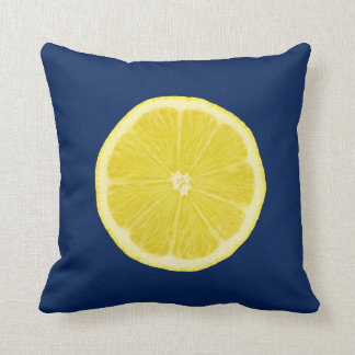 Orange and Lemon Citrus Slice Cushion