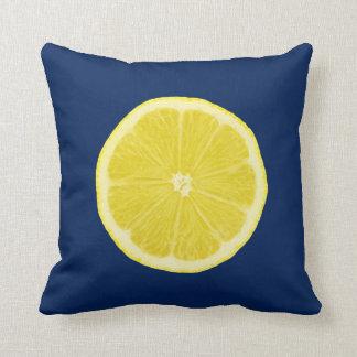 Orange and Lemon Citrus Slice Throw Pillow