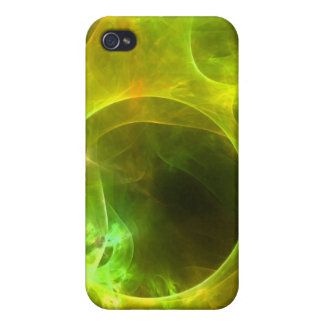 Orange and Lime Circles Case For iPhone 4