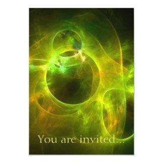 Orange and Lime Circles 13 Cm X 18 Cm Invitation Card