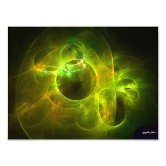 Orange and Lime Circles Photographic Print