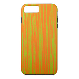 Orange and Lime Stripes by JP Choate iPhone 8 Plus/7 Plus Case