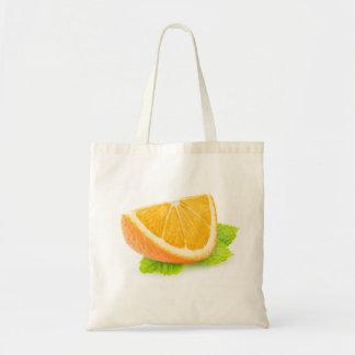 Orange and mint tote bag