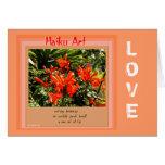 Orange and Peach Customisable Haiku Greeting Card