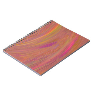 Orange and Pink Abstract Spiral Notebook