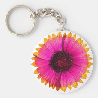 Orange and Pink Flower Keychain