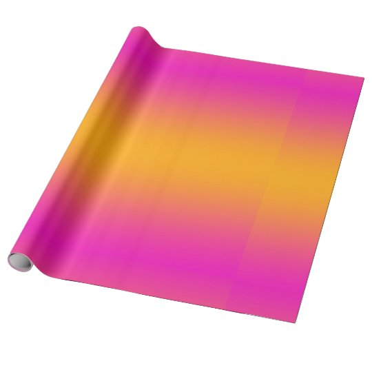 Orange and Pink Gradient Colour Wrapping Paper