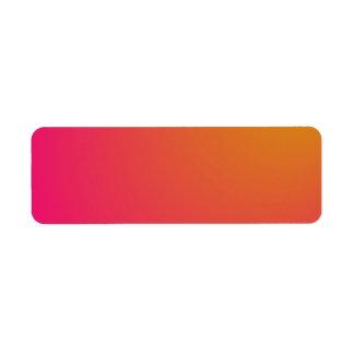 Orange and Pink Gradient Return Address Label