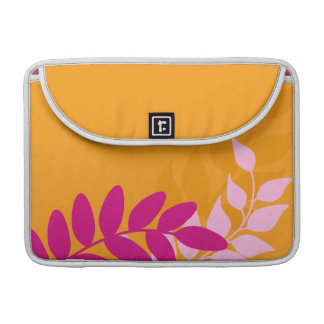 Orange and Pink Mod Vines Sleeve For MacBooks