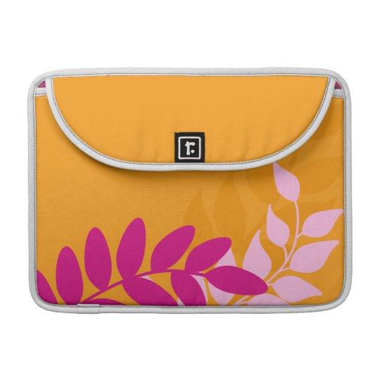 Orange and Pink Mod Vines Sleeve For MacBooks