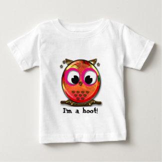 Orange and pink owl design shirts