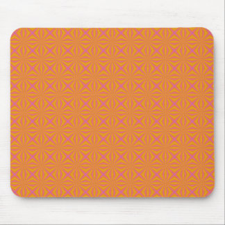 Orange and Pink Quilted Pattern Mouse Mat