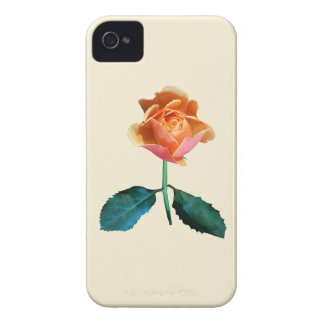 Orange and Pink Rose iPhone 4 Cases