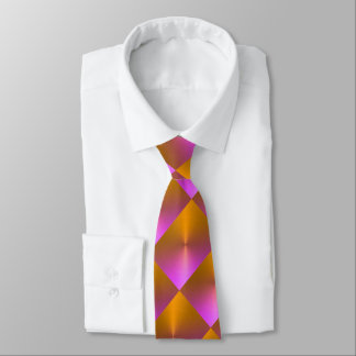Orange and Pink Shimmer Blocks Tie