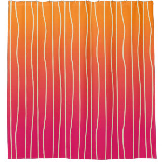 Orange and Pink Shower Curtain