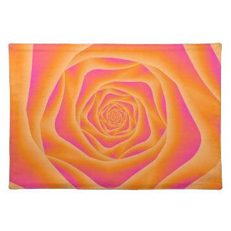 Orange and Pink Spiral Rose Placemats