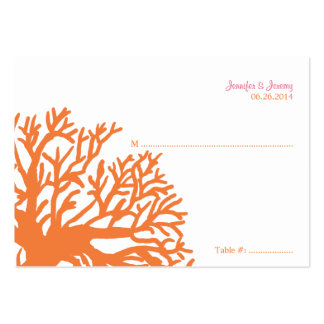 Orange and Pink Tropical Fish Seating Card Business Cards