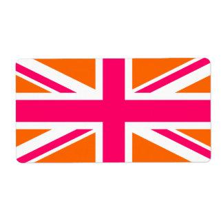Orange and Pink Union Jack
