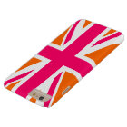 Orange and Pink Union Jack Barely There iPhone 6 Plus Case