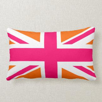 Orange and Pink Union Jack Lumbar Cushion