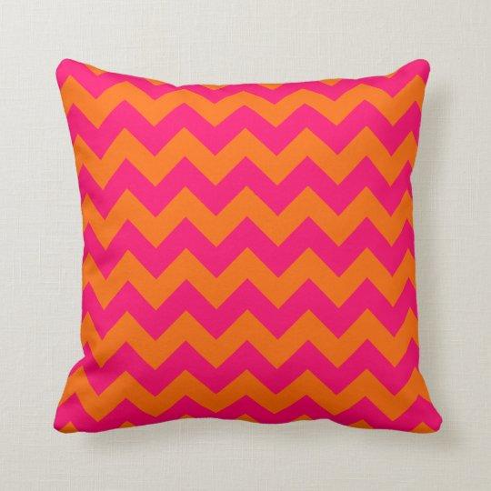 Orange and Pink Zigzag Cushion