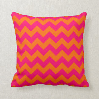 Orange and Pink Zigzag Cushion
